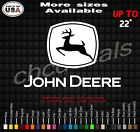 John Deere farm Equipment Decal Sticker many colors and sizes skid steer