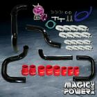 Black Intercooler Piping  + Purple RS BOV  + Red Couplers Kit for 1996-2000 Civic