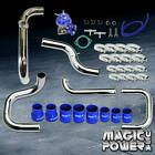 Chrome Intercooler Piping  + Blue RS BOV  + Couplers Kit for 1994-2001 Integra