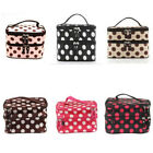 Double Layer Travel Toiletry Cosmetic Makeup Bag Organizer W