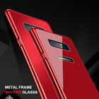For Samsung Galaxy Note 8 S8 Plus Aluminum Bumper Tempered Glass Back Case Cover