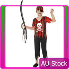 Jolly Roger Pirate Boys Costume Caribbean Buccaneer Kids Book Week Fancy Dress