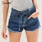 Ladies Denim Jeans Shorts Women Fringe High Waist Casual Modern Elegant Sexy