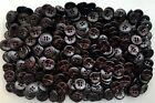 15mm 24L Dark Brown Chocolate Leather Effect 4 Hole Shirt Craft Buttons (K150)