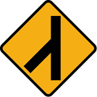 ***LEFT MERGING TRAFFIC #2 HIGHWAY SIGN VINLY DECAL STICKER MULTIPLE SIZES***