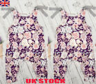 UK Newborn Baby Girls Floral Romper Bodysuit Jumpsuit Sleeveless Outfits Clothes