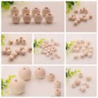 8-20mm Natural Round Wood Spacer Wooden Ball Beads Accessories Diy Craft