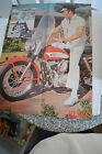 "ELVIS when it all began on his new Harly Davidson Motorcycle Poster16"" x 21"""