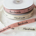 25 yards Handmade Printed Ribbon Label DIY Accessory Sewing Tapes Gift Packing