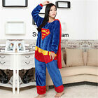 Super Hero Pajamas Superma Cosplay Batman Spiderman Sleepwear For Kid Adult Gift