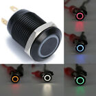 Внешний вид - 12mm 12V LED Power Push Button Switch Momentary Latching Metal Waterproof