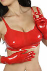 NEW Red Latex Rubber Female Bra with Moulded Breasts (ENGLISH) S M L XL