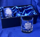Scottish Army Regiments Engraved Presentation and Gift Box Twin Whisky Glasses