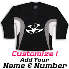 Hitman Print On A Multi Color Hockey Jersey - Black - Optional Name And Number