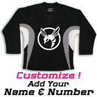 Green Hornet Multi Color Hockey Practice Jersey Optional Name & Number - Black
