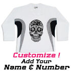 Sublime Sugar Skull Art Hockey Practice Jersey Optional Name & Number - White