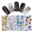 Holographic Nail Art Sequins Laser Stars Flakes Stickers 3D Manicure Decoration