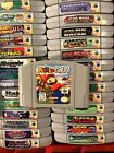 N64 Nintendo 64 Video Games Alphabetically A through M Some Complete in box!!