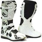 Shot 12 X10 White Motif Leather Race Sports Motorbike Motocross Boots Black EU44