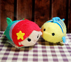 Little Mermaid Ariel Flounder Tsum Tsum Mini Plush Toy Disney gift 3.5