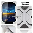 """Shockproof Silicone Stand Cover Case For Various 7"""" 8"""" Vodafone Smart Tab+Stylus"""