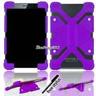 """Universal Shockproof Silicone Stand Cover Case For Various 7"""" Model Tablet + Pen"""