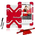 "Shockproof Soft Silicone Stand Cover Case For 7"" 8"" Cube Model Tablet + Stylus"