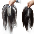 """5""""x1.5"""" inch Mono Remy Human Hair Topper Toupee Hairpiece Wig For Women"""