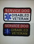Service Dog Disabled Veteran-Deluxe Embroidered Sew-On/Hook Backed Patch