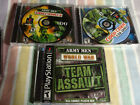 3 Army Men games -- Team Assault (Sony PlayStation 1, 2001), heroes 1 and 2