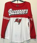 New $44 Tampa Bay Buccaneers Women's Long Sleeve Shirt Red White NFL Football L $11.69 USD on eBay