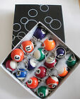 POOL NUMBER KEYRINGS VARIOUS NUMBERS 8BALL MED SIZE = NEW LUCKY CHARM UK SELLER