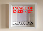Ikea Ribba Box Frame Personalised Vinyl Art Quote In Case Of Emergency