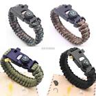 Outdoor Emergency Paracord Survival Bracelets Bottle Opener Compass K0E1