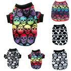 Pet Dog Puppy Skull Pattern Warm Clothes Vest Dog Shirt Chihuahua Outwear XS-L