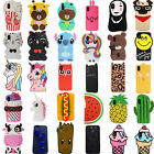 3D Cute Cartoon Soft Silicone Phone Case Cover Skin For iPhone X 5 6 6s 7 8 Plus