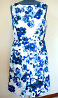 Donna Morgan Womens Dres size 14 Floral, White Blue Purple, Lined. New with tags