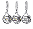 fitting Authentic Pandora Charm Guardian ANGEL WINGS DANGLE Tree 925 sterling