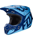 Fox Racing V1 MX Helmet Race Series Navy/Blue Mens 17343-007