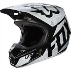 Fox Racing V1 MX Helmet Race Series Black/White Mens 17343-001