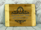 Engraved Painted & Personalised Bread/Chopping Board - Wedding Gift - 60