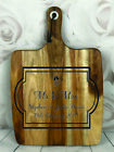 Engraved Painted & Personalised Bread/Chopping Board - Wedding Gift - 66