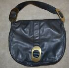 ZAMBOS & SIEGA Blue Lambskin Leather Gold Handbag Messenger Computer Bag backpac