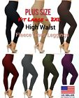 High Waist Tummy Control  Fleece Leggings Thick Warmer  Plus Size ( L To 2xl )