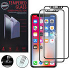 """2 Films Toughened Glass Protection Black Apple IPHONE x 5.8 """"/ 10"""