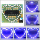 DIY Kits Love Heart shaped LED Blue Light Water Electronic Suite Set Gift