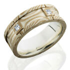 MOKUME GANE FLAT SEGMENTED BAND WITH STERLING SILVER