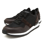 TOD'S Men's Leather Sneakers Black Brown XXM0XH0R011H8U0531 Authentic - UK Size