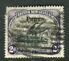 PAPUA NEW GUINEA;  1906 early Optd. issue fine used 2d. value