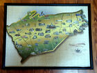 Framed  Glass covered Puzzle Picture of Cumberland County Pennsylania